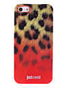 Fashionable Leopard Print Pattern Red Smooth Anti-shock Case for iPhone 5/5S