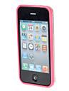 TPU de protection de butoir pour l'iPhone 4/4S (couleurs assorties)