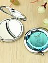 Εξατομικευμένη Δώρο Καρδιά και ο Εραστής Pattern Chrome Compact Mirror