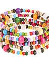 Fashion 6Cm Women\'S Multicolor Wood Wrap Bracelet(Multicolor)(1 Pc)