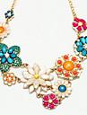 Fashion Gold Alloy Statement Necklace(Multicolor)(1 Pc)
