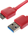 1M Noodle Flat USB Sync Data Charger Cable for Samsung Galaxy Note3 N9000