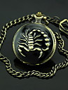 Men's Scorpion Pattern Bronze Alloy Quartz Pocket Watch Cool Watch Unique Watch