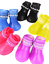 Dog Shoes & Boots Waterproof Summer / Spring/Fall Solid Red / Yellow / Blue / Purple / Black Rubber