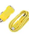 Forma de la bala del cargador del coche para los telefonos celulares Samsung y otras marcas