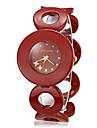 דפוס צלצול חיוג העגול של נשים סגסוגת בנד קוורץ אנלוגיים צמיד שעונים