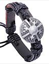 Z&X® старинные щит 24см мужская ассорти цвет кожи&сплав кожаный браслет (черный, кофе) (1 шт)