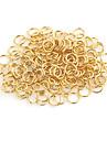 Durable Round Gold Alloy Clasps 100 Pcs/Bag