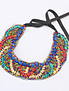 Women\'s Statement Necklaces Acrylic Silver Plated Alloy Fashion Bohemia Blue/Red Jewelry Party Daily Casual 1pc