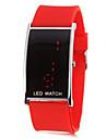 LED rouge numérique de bande de silicone de montre-bracelet des femmes (couleurs assorties)