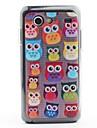 Owl Faces Padrão Capa Protetora PVC Voltar para I9070 Samsung Galaxy S antecipadas