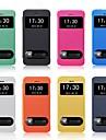 Для Кейс для iPhone 5 с окошком / Флип Кейс для Чехол Кейс для Один цвет Твердый Искусственная кожа iPhone SE/5s/5