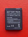 remplacement de la batterie DSTE 3.7v 1600mah pour GoPro HD 3 ahdbt-201/301 - noir
