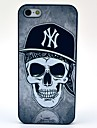 Black Hat Skull Pattern Hard Case for iPhone 5/5S