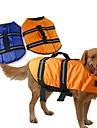 Perros Chaleco / Chaleco salvavidas Azul / Naranja Verano / Primavera/Otono Clasico A Prueba de Agua-Doglemi, Dog Clothes / Dog Clothing