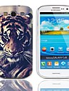 Affaire Tiger Eyeing conception rigide avec protection d\'ecran 3-Pack pour Samsung Galaxy S3 I9300