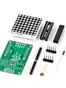 поделки MAX7219 красный светодиод точка модуль матрица дисплея для (для Arduino) (работает с официальными (для Arduino) плат)