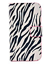 Housse en cuir Zebra Stripe Motif PU avec Magnetic Snap et logement pour carte pour Samsung Galaxy S3 mini-I8190