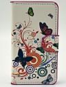Jolies fleurs avec étui en cuir PU Papillon Motif avec fente pour carte pochette pour Sony Xperia E1