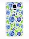 Для Кейс для  Samsung Galaxy С узором Кейс для Задняя крышка Кейс для Цветы PC Samsung S5