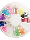 12-Color Plum Blossom Style Nail Art Rhinestone Decorations