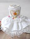 Dog Dress White Winter / Summer / Spring/Fall Hearts / Pearl Wedding