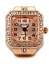Mulheres Relógio de Moda Quartz Lega Banda Vintage Ouro Rose marca-