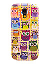 Colorful Owls Pattern Hard Back Cover Case for Samsung Galaxy S4 Mini I9190