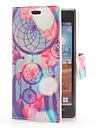 Dream Catcher Style Leather Case with Card Slot and Stand for LG Optimus L7 P705