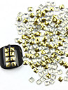300PCS 3D Golden Square Lichtmetalen Nail Art Golden & Silver Decorations
