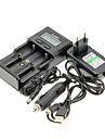 Soshine H2 Battery Charger for 26650/18650/16340 (for 2 Batteries) & Car Charger