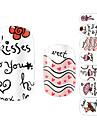 Arte Beijo design de unhas 28PCS dinamicos Stickers