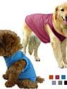 Собаки Футболка Оранжевый / Зеленый / Синий / Лиловый / Черный / серый / Розоватый Одежда для собак Весна/осень Однотонный