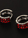 Fashion 10 Rhinestones Round Shape Alloy Stud Earrings(More Color) (1 Pair)