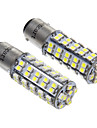 68x3528SMD White Light LED for Car Brake Light Bulb (12V,2pcs)