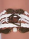 кожаные браслеты многослойная сыча сплава и крылья амулеты ручной работы браслеты ювелирные изделия