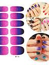 28pcs Блеск Gradient Ramp Nail Art Наклейки M серии № 110