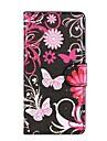 Black Butterflies Couro PU com suporte e slot para cartão caso capa para o Sony Xperia Z2