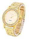Women\'s Watch Fashionable Diamond Dial Golden Alloy Band