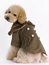 Собаки Плащи Коричневый Одежда для собак Зима Однотонный Мода / Сохраняет тепло