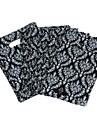 심플한 디자인의 블랙 불꽃 벨소리 패턴 환경 가방 (는 45pcs)
