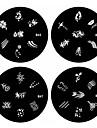 1pcs nail art carimbo de carimbar imagem modelo de placa b série no.45-48 (padrão assorted)