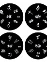 1pcs nail art carimbo de carimbar imagem modelo de placa b serie no.45-48 (padrao assorted)