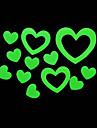 Romantic House Absorptiometric Night Lights Stickers-Heart-shaped