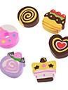 Lovely Roll Cake Pattern Kids Stationary Eraser Set (6-Pack)