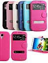 KARZEA® Shiny Double Windows Pattern TPU and PU Leather Case with Stand for Samsung Galaxy S4 i9500 (Assorted Colors)
