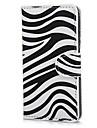 Zebra Motif PU Housse en cuir avec support et fente pour carte pour Sony Xperia M C1905