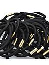 (6PC) simples e praticas Bandas alta Elastic Pretos Cabelos Elastic