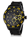 V6® Men\'s Sporty Style Black Silicone Band Quartz Wrist Watch (Assorted Colors) Cool Watch Unique Watch