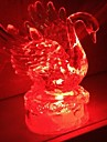 Coway acrilico cristal colorido LED Night Light Swan